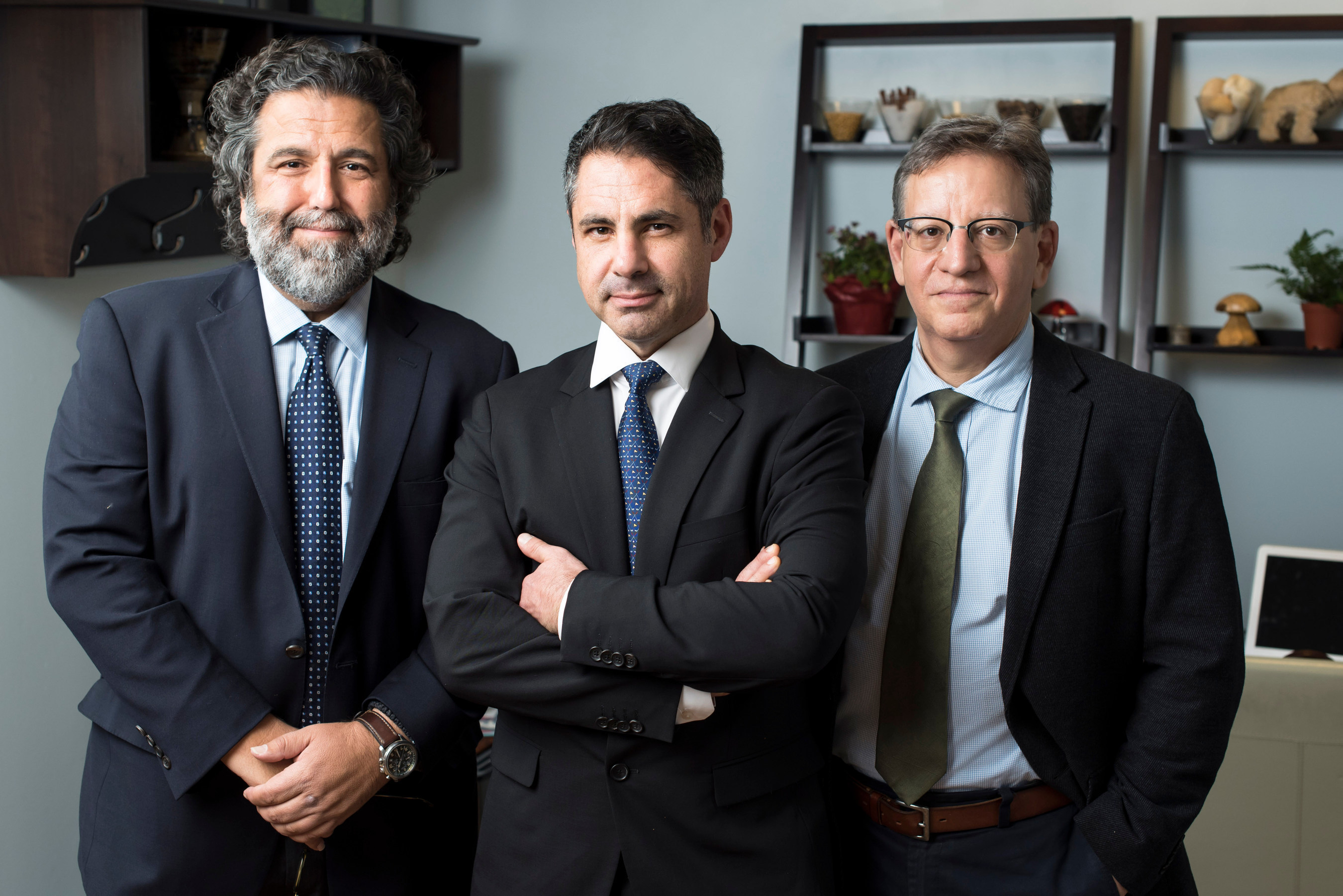 From left: Anthony Bossis, PhD; Stephen Ross, MD; and Jeffrey Guss, MD, all at NYU Langone Medical Center
