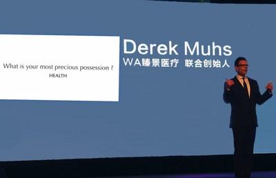 Derek Muhs presents health awareness campaign