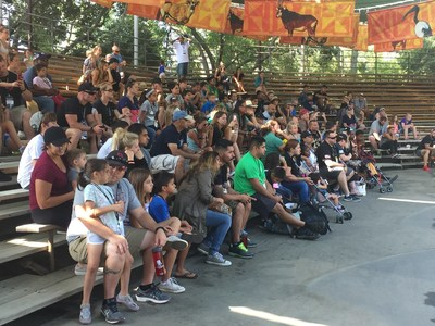 Injured veterans and their families watched an animal presentation during a recent Wounded Warrior Project outing at the San Diego Zoo Safari Park.