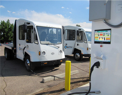 Boulder EV is the 1st electric truck manufacturer to successfully demonstrate working vehicle-to-grid charging. The US Army Corp of Engineers and the SPIDERS project signed off on verifying full charge and discharge of the vehicle at 60 kilowatts of power. (PRNewsFoto/Boulder Electric Vehicle)