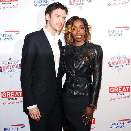 Dan Stevens and Estelle at BRITISH AIRWAYS & VISITBRITAIN's opening night of The Big British Invite in New York City.  (PRNewsFoto/VisitBritain)