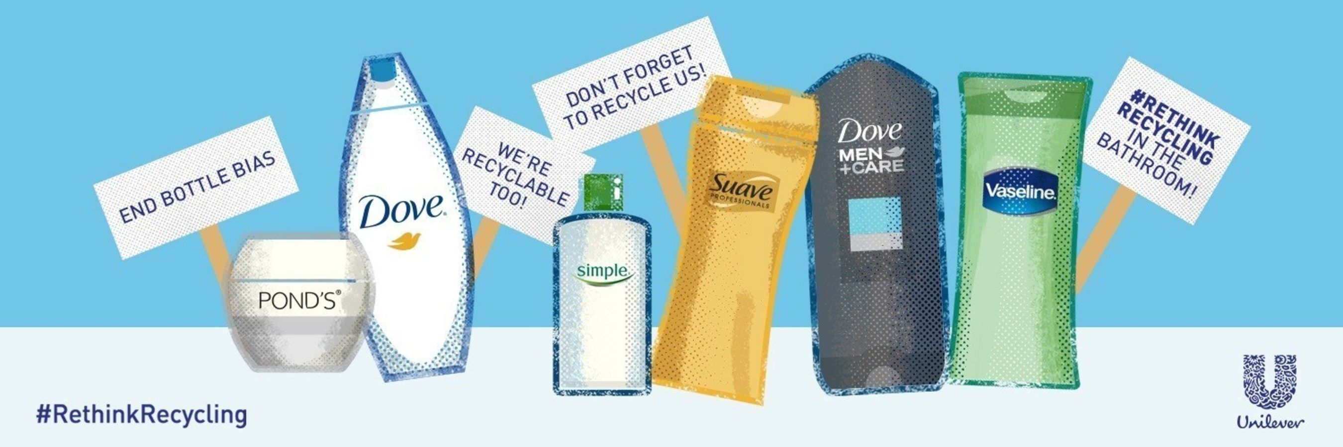Unilever Rinse.Recycle.Reimagine. campaign inspires consumers to end bottle bias and recycle bathroom empties as often as their kitchen counterparts