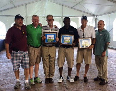 Ed Grisetti of Capitol Petroleum Group (CPG), Terry Fitzgerald of CPG, Don Villamar of CITGO Petroleum, Victor Iroh of CPG, Mike Moran and Joe Marino of Certified Gasolines at CITGO Marketer Capitol Petroleum and Certified Gasolines' Muscular Dystrophy Association Golf Tournament in Staten Island, N.Y.