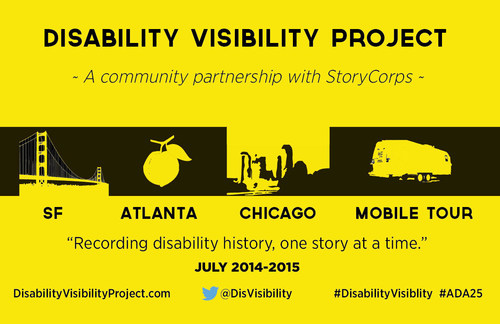 Disability Visibility Project: 'Recording disability history, one story at a time' (PRNewsFoto/Disability Visibility Project)