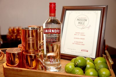 SMIRNOFF vodka, the brand that invented the Moscow Mule in 1941, celebrates the classic cocktail's 75th anniversary at an event in Los Angeles, CA on October 19, 2016 (photo by Jesse Grant)
