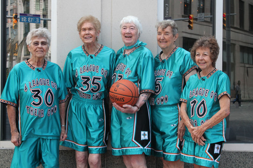The Cruisin' Big Dogs, silver medal winners in the 80 women's basketball tournament at the National ...