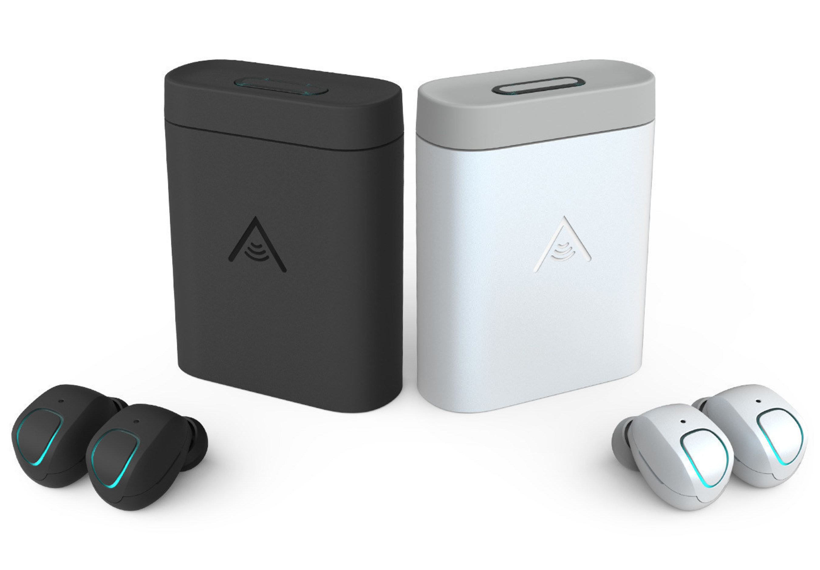 Skybuds and Skydock featured in Charcoal and Pearl