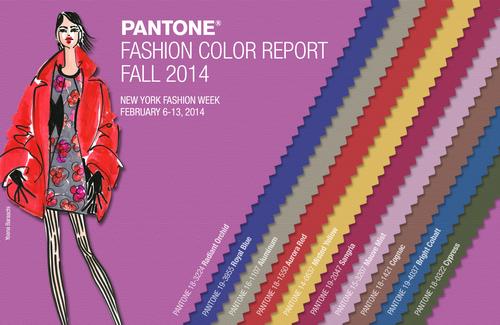 Pantone Announces Fashion Color Report Fall 2014.  (PRNewsFoto/Pantone LLC)