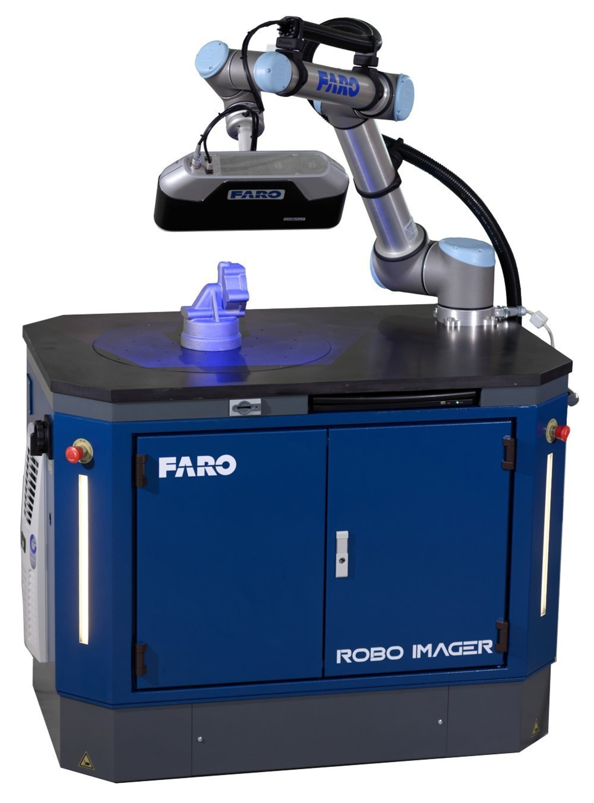 The FARO Factory Robo-Imager Mobile is an automated inspection station designed for the shop floor.