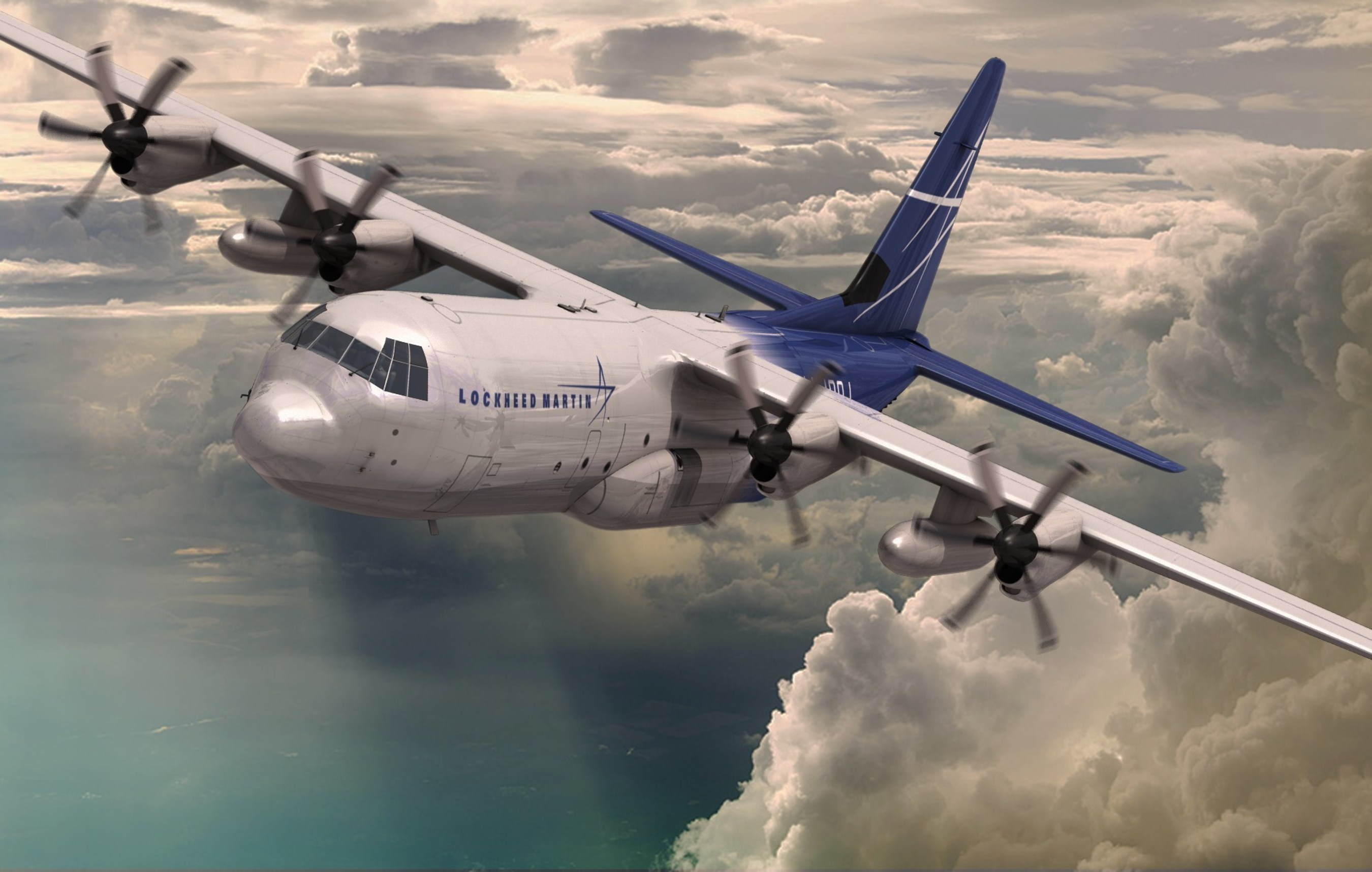 Lockheed Martin's LM-100J incorporates technological developments and improvements over the existing L-100s that result from years of C-130J operational experience, including more than 1.3 million flight hours by operators in 16 nations. (Rendering by Marco Riccio)