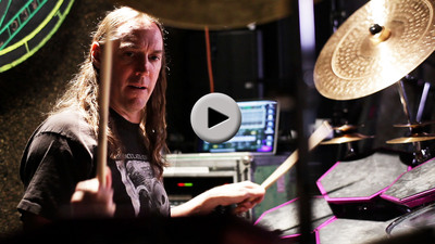 Tool's Danny Carey demonstrates how electronic drum technology has expanded his abilities as a performer in Mandala's 3-part video series: http://synesthesiacorp.com/mandala_drum_interview_series.  (PRNewsFoto/Synesthesia Corporation)