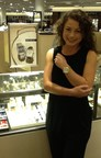 Debbie selected the Signature Serein Diamond Gold Watch with 18mm bone alligator strap.