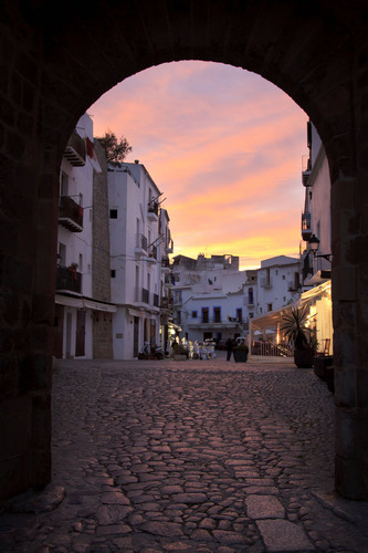 Sunset over Ibiza's old town-one of Crystal Cruises' 2014 European maiden calls.  (PRNewsFoto/Crystal ...