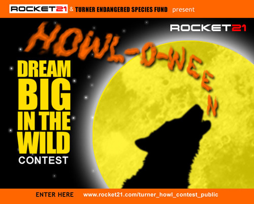 Rocket21 and Turner Endangered Species Fund Host Youth HOWL-O-WEEN Contest.  (PRNewsFoto/Rocket21)