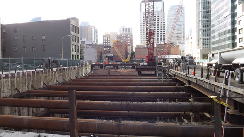 L.B. Foster Delivers 2,600 Tons of Pipe for San Francisco Transit Hub Excavation
