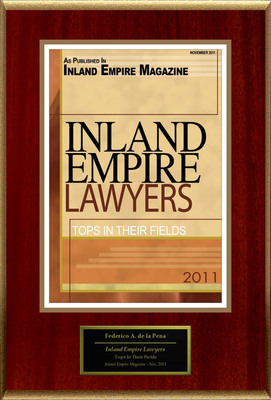 "Federico A. de la Pena Selected For ""Inland Empire Lawyers"".  (PRNewsFoto/American Registry)"