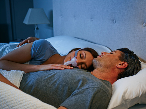 ResMed's AirFit P10 nasal pillows system is 50 percent quieter than its predecesor. (PRNewsFoto/ResMed Inc.) (PRNewsFoto/RESMED INC.)