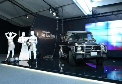 G-Class Scores Knockout At Mercedes-Benz Fashion Week.  (PRNewsFoto/Mercedes-Benz USA)