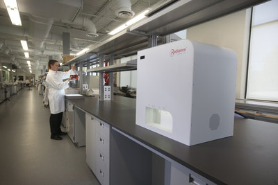 Radiance instrument being used in the laboratory for viral infectivity measurements