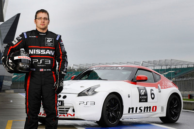 Steve Doherty, 29, of Plainfield, Illinois topped 15 other finalists to win Nissan GT Academy North America Season 2 and won a seat in a Nissan racing car.  (PRNewsFoto/Nissan)