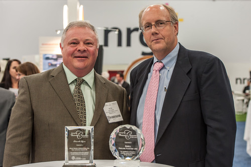 The award for Helix Power was presented to Rick Dixon, President.  (PRNewsFoto/Helix Power Generators, Inc.)