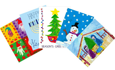 Celebrate the season by sending holiday greetings designed by St. Joseph's Children's Hospital patients. All proceeds benefit Child Life programs at the hospital, which includes pet therapy, bedside activities, music and art therapy, grief support for families and more.  (PRNewsFoto/St. Joseph's Children's Hospital)