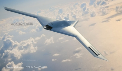 Penton's Aviation Week Uncovers New, Classified Unmanned Aircraft Flying at Area 51. (PRNewsFoto/Penton)