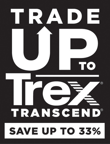 "Through the ""Trade Up to Trex Transcend"" promotion, homeowners with composite decks may be eligible to ..."