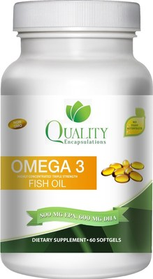 Quality Encapsulations Omega 3 Fish Oil-Triple Strength-1,500 mg comes from pharmaceutical grade Chilean fish oil.