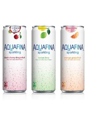 Aquafina Sparkling in Black Cherry Dragonfruit, Lemon Lime, and Orange Grapefruit flavors