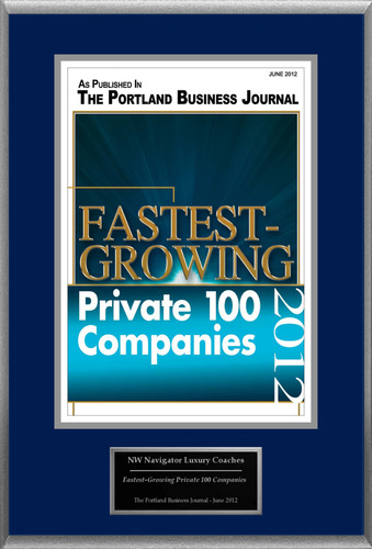 NW Navigator Luxury Coaches Selected For 'Fastest-Growing Private 100 Companies'