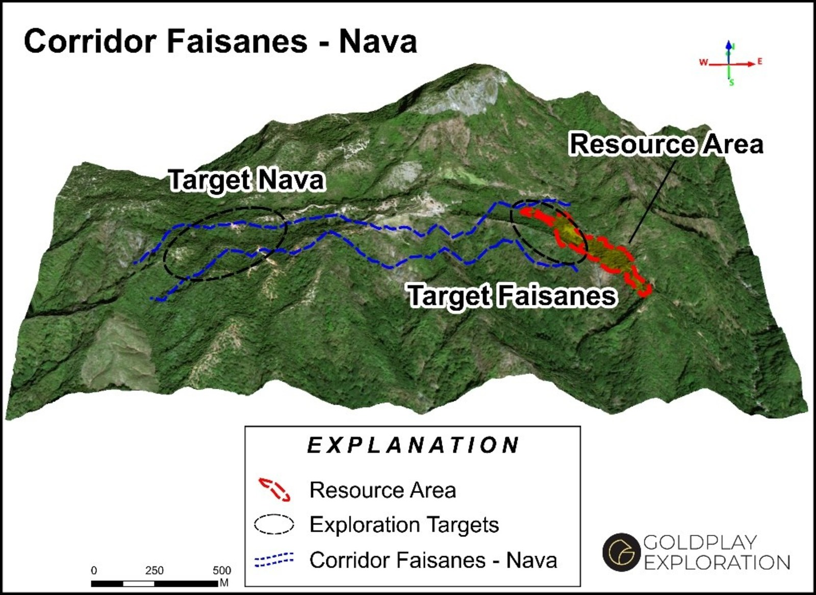 Figure 2 Location of the Faisanes-Nava Trend and San Marcial Resource Area