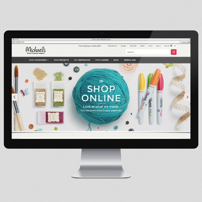Michaels Inspires With Online Shopping