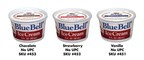 Blue Bell Ice Cream is recalling three flavors of its 3 oz. institutional/food service ice cream cups.