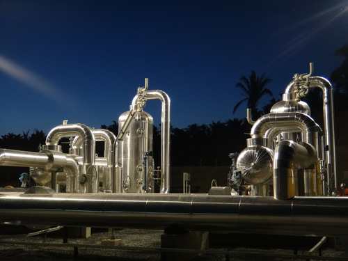 Valerus provides turnkey solutions for natural gas facilities around the world. Shown here are two separators ...