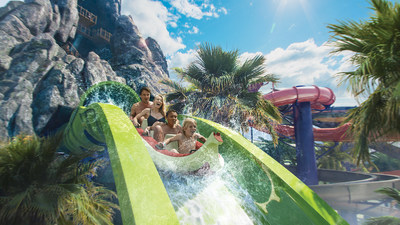 In early summer 2017, a first-of-its-kind water theme park will erupt at Universal Orlando Resort - Universal's Volcano Bay. It will be an innovative experience filled with incredible thrills and perfected relaxation. Krakatau Aqua Coaster will be the star experience at Universal's Volcano Bay - combining innovative ride technology with water theme park thrills to take families on an unforgettable adventure through the park's massive icon - the 200-foot Krakatau volcano.