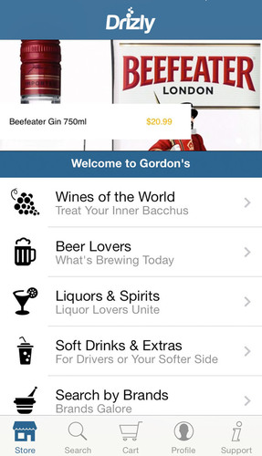 Free iPhone app from Drizly lets consumers order beer, wine and liquor delivered to them. (PRNewsFoto/Drizly, Inc.) (PRNewsFoto/DRIZLY, INC.)
