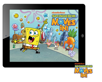 Build Your Own Bikini Bottom with New Mobile Game SpongeBob Moves In.  (PRNewsFoto/Nickelodeon)