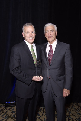 L to R - Rich Hader, Ph.D., RN, senior vice president of nursing at Meridian Health and John K. Lloyd, FACHE, president of Meridian Health after Rich was named Healthcare Professional of the Year from the New Jersey Hospital Association.  (PRNewsFoto/Meridian Health)