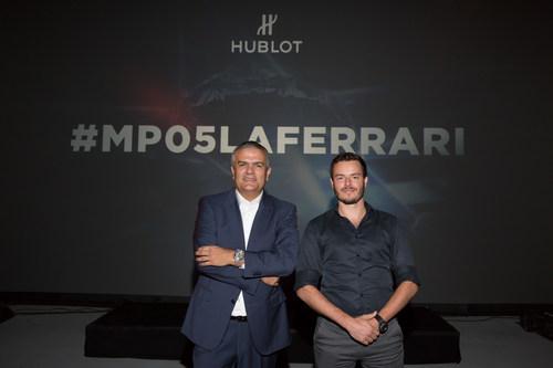 Ricardo Guadalupe, CEO of Hublot, and Pierre Michel, Director of the Film (PRNewsFoto/Hublot SA)