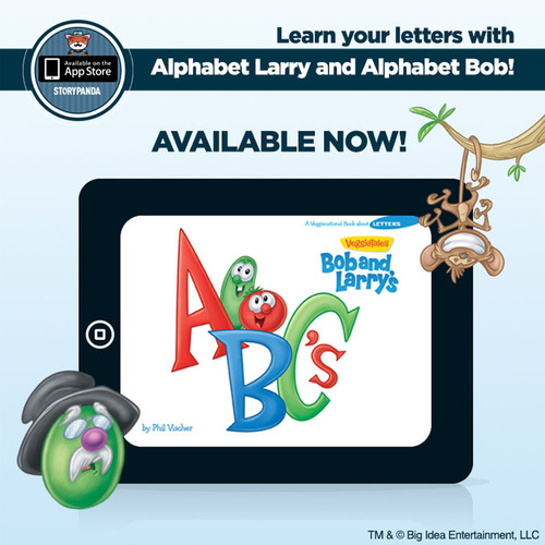 VeggieTales ABCs by Storypanda and Big Idea. (PRNewsFoto/Storypanda) (PRNewsFoto/STORYPANDA)