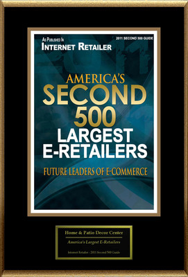 Home and Patio Decor Center Selected For ''Second 500 Largest U.S. E-Retailers''