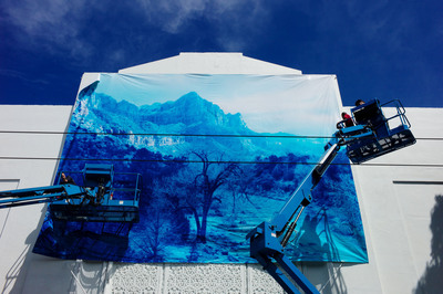 David Benjamin Sherry created 'Winter Storm in Zion Canyon' in collaboration with ABSOLUT's Open Canvas Initiative, on display on San Francisco's Divisadero Street (between Hayes and Grove) through Sunday, September 1.  (PRNewsFoto/ABSOLUT)