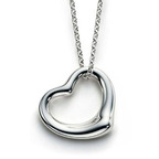 Petite Open Heart Necklace.  (PRNewsFoto/Inspired Silver)