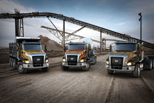Caterpillar Unveils New Cat Vocational Trucks