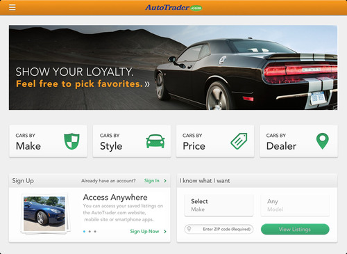 New AutoTrader.com iPad App Helps Shoppers Discover Their Perfect Car