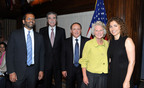 Deepak Bhargava, Carlos Gutierrez, Paul Merage, Jane Harman, and Anousheh Ansari at the National Leadership Awards.  (PRNewsFoto/Woodrow Wilson International Center for Scholars)