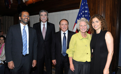 Deepak Bhargava, Carlos Gutierrez, Paul Merage, Jane Harman, and Anousheh Ansari at the National Leadership Awards.  (PRNewsFoto/Woodrow Wilson International Center for Scholars)