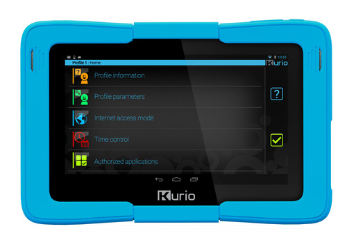 Kurio 7s Android 4.2 tablet for families with kids by Techno Source.  Features an even more comprehensive Kurio proprietary suite of parental controls, including stronger Internet filtering, more granular app usage controls, and easier to use time limits.  (PRNewsFoto/Techno Source)