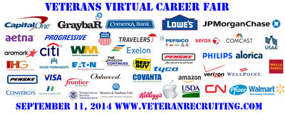 9/11 Veterans & Military Spouses Virtual Career Fair (PRNewsFoto/Veteran Recruiting)